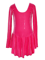 Girl's Practising Figure Skating Dress (Dark Red)
