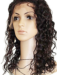 16 Inch Water Wave 2 Color Mix 27 Color  Human Hair Full Lace Wig 130 Density More Color Available