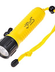 POP F6 Lite 2-Mode Cree XR-E Q5 Branco Diving Flashlight (370lm1 x 18650 Amarelo)