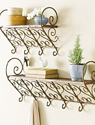 Classic Continental Royal Iron Wall Mounted Shelf