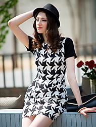 TS Simplicity Houndstooth Short Sleeve Dress