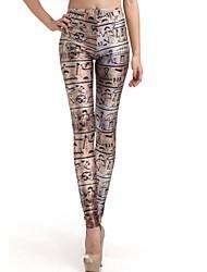 Elonbo Hieroglyphs Style Digital Painting Tight Women Leggings