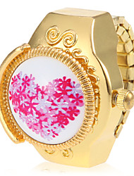 Women's Casual Watch Quartz Band Heart shape Flower Gold Brand