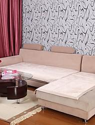 Elaine curto pelúcia padrão bordure lótus sofá bege almofada 333561