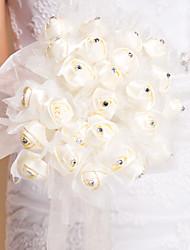 forme ronde tulle et strass bouquet (plus de couleurs)