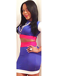 Topro Fashion Colorful Boutique Bandage Dress Women Sexy Bodycon Party Dress TY062(Screen Color)