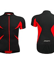Jaggad Cycling Jersey Short Sleeve Summer Unisex Black Red Polyester Spandex Back Zipper Pocket