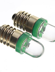 E10 0.2W 10-15LM 1-Car Led Bulbs-Green (12V)
