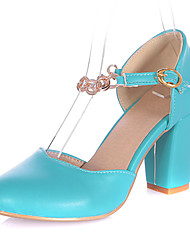 Leatherette Women's Chunky Heel Heels Pumps/Heels Shoes(More Colors)