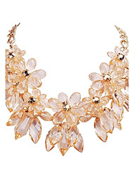 JANE STONE Gold Flower Fashion Chain Statement Necklace(2 Colors)