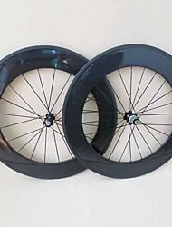 20.5mm de ancho Yanbo 3K brillante 88mm carbón 700C remachador Wheelset con 271/372 hub 20 24 agujeros para bicicleta de carretera