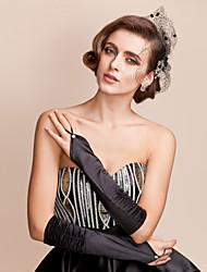 Wrist Length Fingerless Glove Satin Bridal Gloves