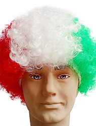 Black Afro Wig Fans Bulkness Cosplay Christmas Halloween Wig Italian Flag Wig 1pc/lot