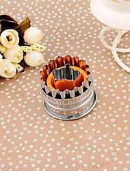 Stainless Steel Crown Shape Spring Type Embossed Cookie Mold(Random Color)