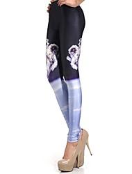 Elonbo Space Travel Style Digital Painting Tight Women Leggings