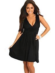 Женская Глубокий V шеи Клубные платья повязки