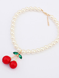 Cherry Pearl Strand Necklace