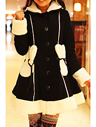 Elegant Princess Sweet Lolita Coat with Bunny Ears Pattern Cap