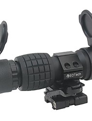 Tactical 3x Magnifier Quick Flip Scope w/ Flip To Side Mount Fit For Aimpoint Eotech Holographic Sight
