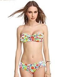 De VBM Marca Mulheres impressão Bikinis Push-up Underwire Swimwear mais sexy Swimming Suit Beachwear
