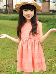 Girl's  Sleeveless Elegant Simple Dress