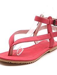 женская плоским пятки флип-флоп сандалии с пряжкой мотыги (больше цветов)