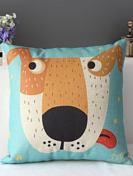 Super belle style de dessin animé peint chien mignon coussin décoratif couverture