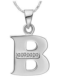 Мода B-Логотип сплава Женская ожерелье с Rhinestone (1 шт) (золото, серебристый)