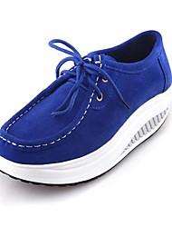 Women's Walking Shoes Suede Black / Blue / Brown / Pink