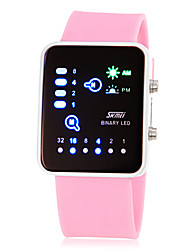 Damen Modeuhr digital LED Silikon Band Rosa Gelb Rose Gelb Rose Rosa