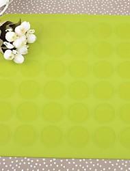 Pattern Силиконовый площадь круглое отверстие Macarons Мат, 29.7x28cm (случайный цвет)