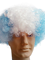 Black Afro Wig Fans Bulkness Cosplay Christmas Halloween Wig Argentina Flag Wig 1pc/lot