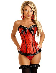 Darling Clothes Women's Sexy Lace-Ups Keep Fit Satin Corset