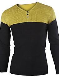 Contrast T-shirt girocollo a colori Uomo