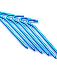Liga de alumínio Pegs para Outdoor Camping Tent 180 milímetros Azul (6 peças embalar)