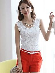 Women's Tops & Blouses , Cotton/Lace Casual Shozilan