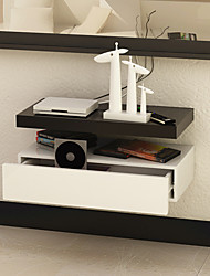 Postmodern Minimalism Solid Line Shaped Wall Mounted Decorative Storage Shelf