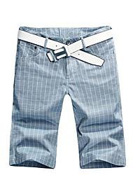 Männer Slim Solid Color Shorts