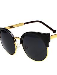SEASONS Gim'Max Moda Unissex Meio-Frame Sunglasses Men Lady Retro Wave Of meia-volta caixa de gato dos óculos de sol dos olhos