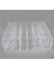 Trapezoidal Plastic 24 Compartments Transparent  Storage Case