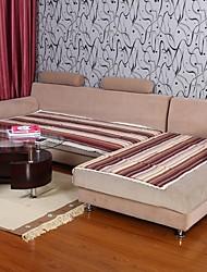 Elaine puro algodão sete peça sofá café almofada 333873