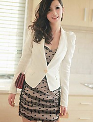 Women's White Blazer Long Sleeve