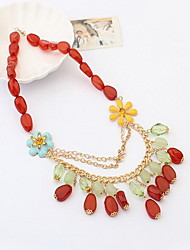 Women's Fashion  Colorful Precious Stone Necklace