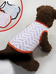 T-shirt für Hunde Schwarz / Gelb Sommer S / M / L / XL Baumwolle