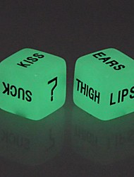 Lover's Glow-in-the-dark Dice Toy (2 PCS)
