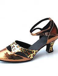 Zapatos de baile (Oro) - Danza latina/Moderno/Salón de Baile - No Personalizable - Tacón grueso