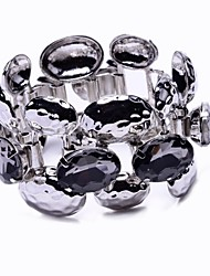 definida pedra pulseira de metal