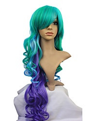 Capless Synthetic Long Colorful Curly Synthetic Lolita Wig
