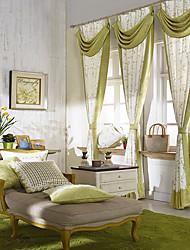 (Dos paneles) país estilo fresco deja el modelo de ahorro de energía de la cortina