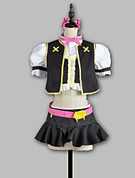 Inspired by Love Live Niko Yazawa Anime Cosplay Costumes Cosplay Suits Patchwork Black Short Sleeve Top / Skirt / Gloves / Socks